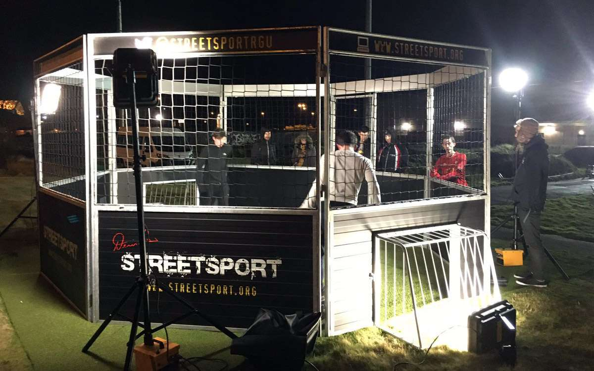 Soccer Cage at Night, Aberdeen, Scotland